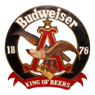 1876 Budweiser King of Beers Sign