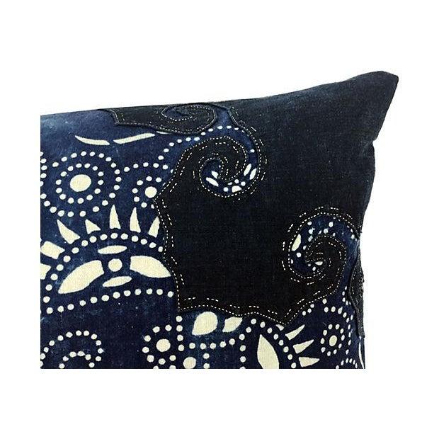 Indigo Batik Body Pillow W/ Foo Dogs - Image 4 of 6
