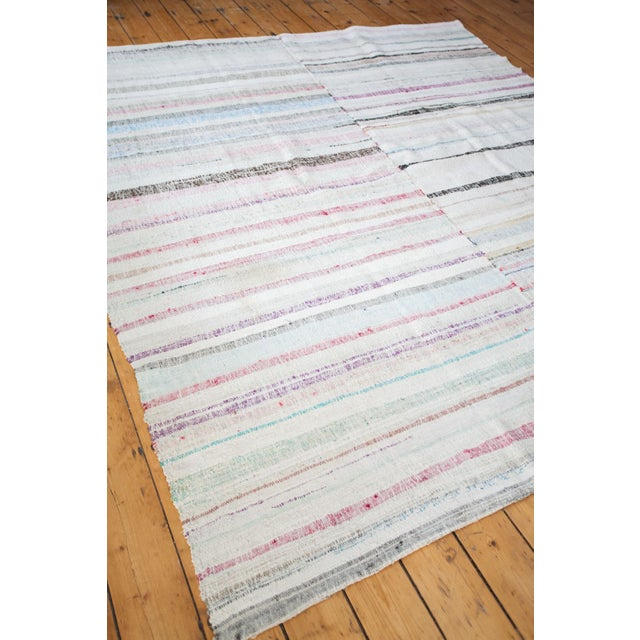 "Vintage Cotton Area Rag Rug - 7'10"" x 8'7"" - Image 6 of 9"
