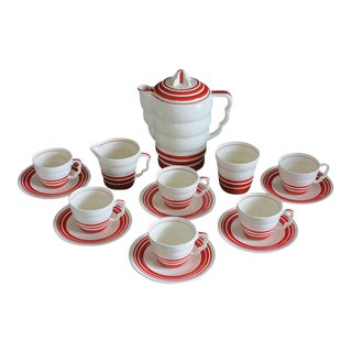 "Art Deco ""Aristocrat"" Demitasse Coffee Set - Set of 15"