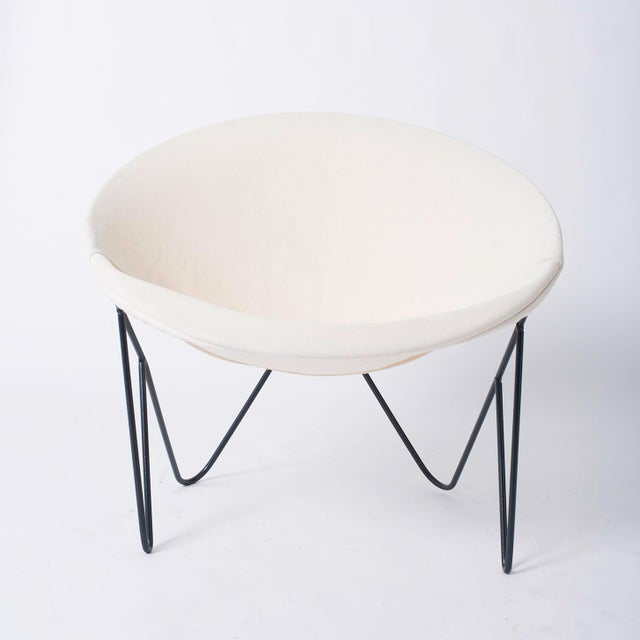 Single California Modernist Hoop Chair with Hairpin Legs - Image 2 of 5