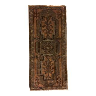 Antique Handwoven Turkish Rug - 1′7″ × 3′6″