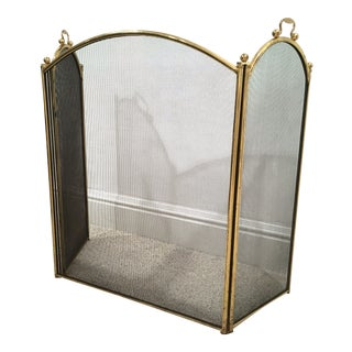 Antique Arched Fire Screen