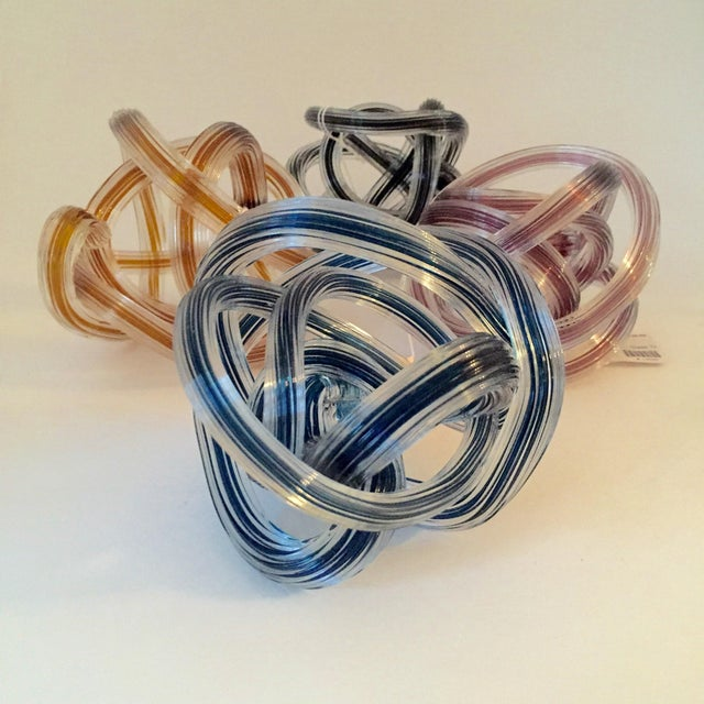 Murano Style Colored Glass Yarn Knots - Set of 4 - Image 3 of 5