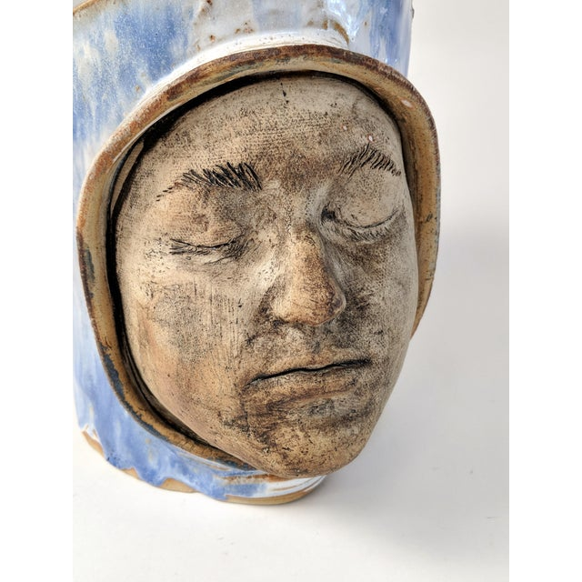 1970 Double Faced Pottery Planter - Image 5 of 10