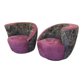 80's Vladimir Kagan Swivel Chairs - A Pair