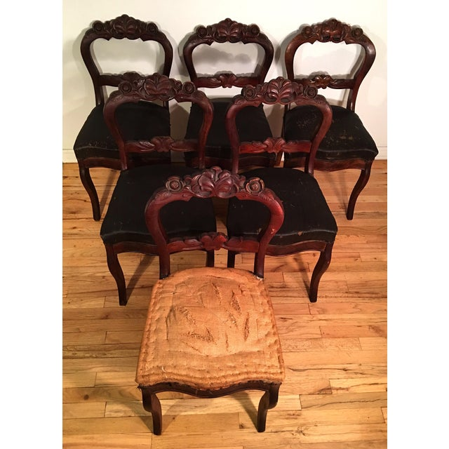 Victorian Dining Room Sets: Victorian Mahogany Dining Room Chairs - Set Of 6
