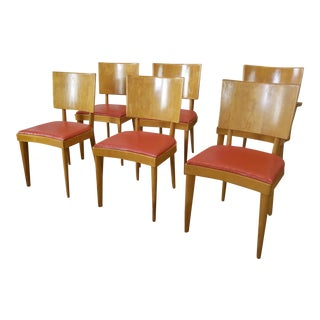 1950s Heywood Wakefield Dining Room Chairs - Set of 6
