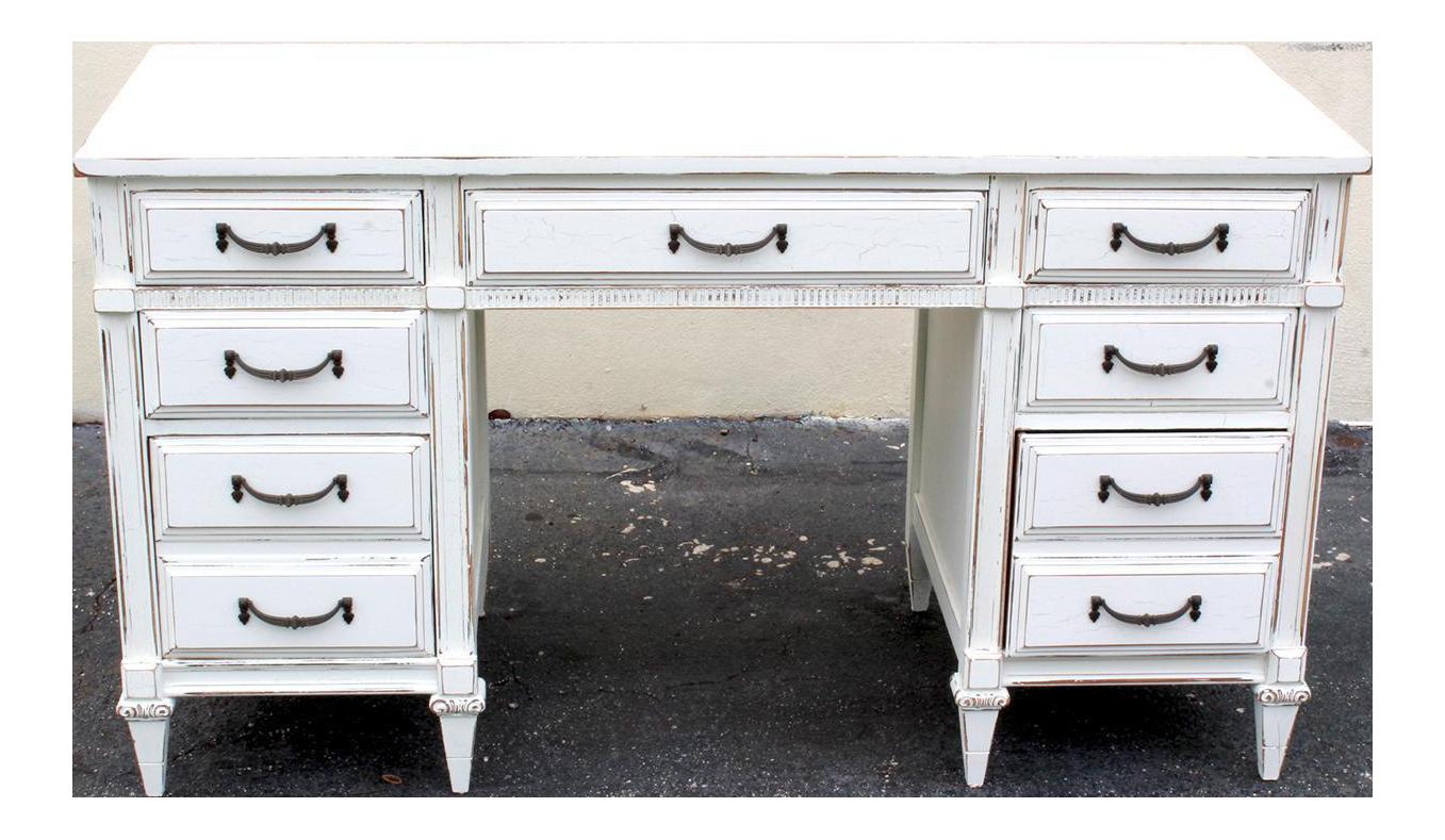 midcentury white desk