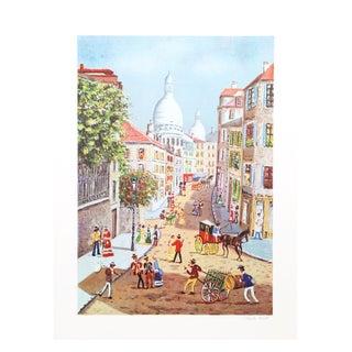 Claude Tabet - Rue Norvins Lithograph