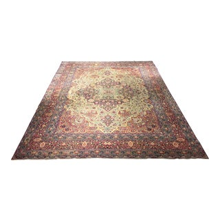 Persian Kerman Antique Distressed Rug - 10' x 13'