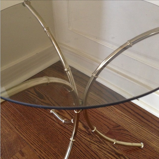 Vintage Faux Bamboo Accent Table - Image 9 of 11