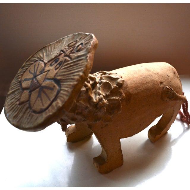 Image of Ruth McNay Mid-Century 1970s Stoneware Lion