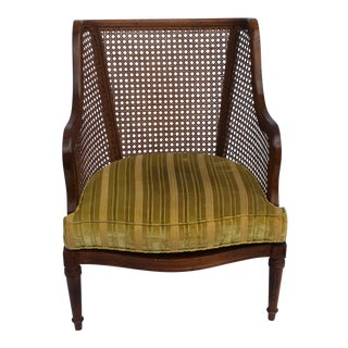 Mid-Century Caned Club Chair