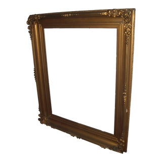 Antique Large Gilt Ornate Mirror/Picture Frame