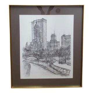 Eric Nivelle Mid-Century Central Park Print