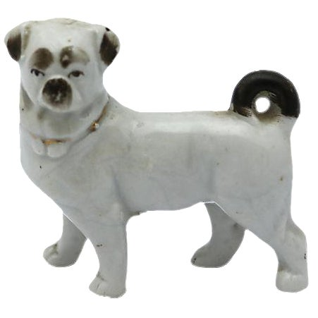Image of Antique English Porcelain Miniature Pug - C. 1840