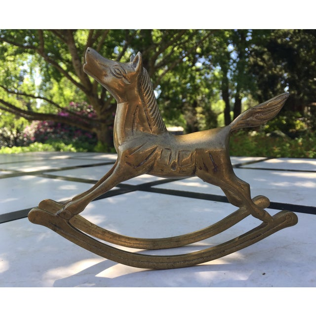 Vintage Brass Rocking Horse Figurine - Image 2 of 5
