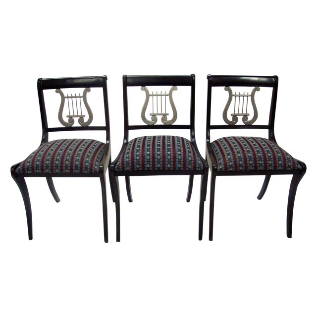 Mid-Century Harp Back Dining Chairs - Set of 3 - Image 1 of 8