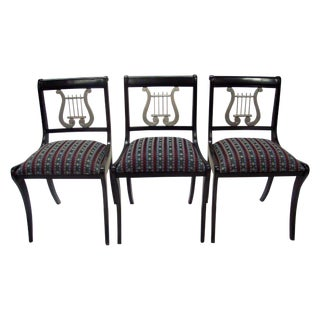 Mid-Century Harp Back Dining Chairs - Set of 3