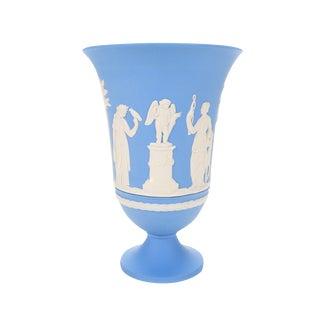 Wedgwood Jasperware Blue Neoclassical Vase