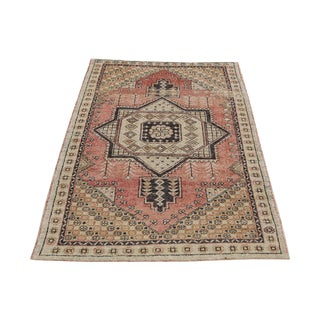 Vintage Turkish Boho Rug - 4′4″ × 5′11″