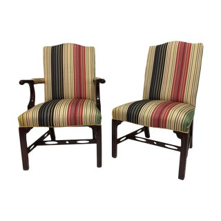 Chippendale Upholstered Dining Chairs - Set of 8