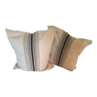French Ticking European Size Pillow - Pair