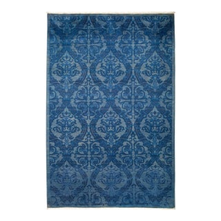 """Eclectic Hand Knotted Area Rug - 4' 2"""" X 6' 3"""""""