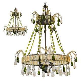 Unique Pair of French Crystal Chandeliers