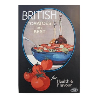 1920s Mini Food Poster, British Tomatoes Are Best