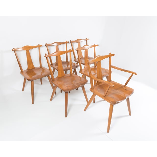 Cushman Mid-Century Colonial Dining Chairs - Set of 6 - Image 2 of 11