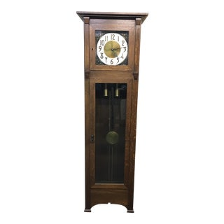 Vintage Arts & Crafts Style Grandfather Clock