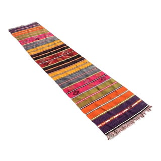 "Vintage Turkish Kilim Runner - 20"" x 91"""