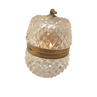 Vintage Cut Glass & Brass Evans Lighter