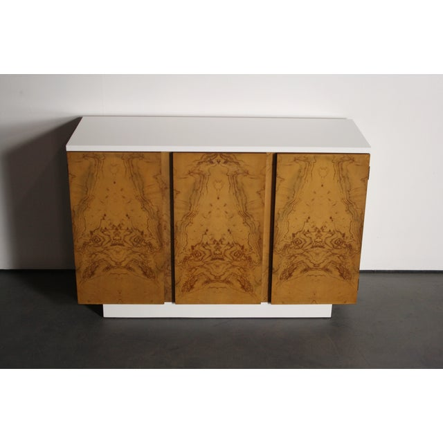 Milo Baughman Burl Wood 2-Tone Credenza Buffet - Image 7 of 11