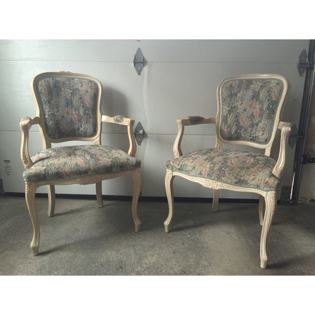 Image of French Country Bergere Chairs - A Pair