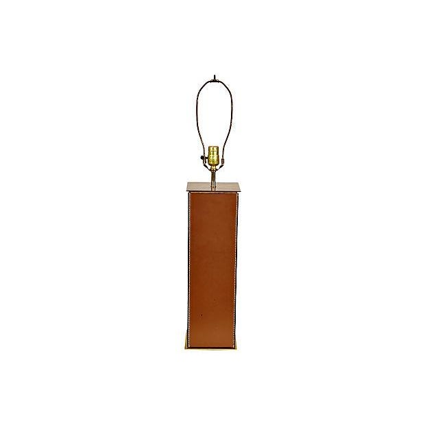 1970's Leather-Based Lamp - Image 7 of 8