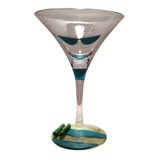 "Hand Painted Lolita ""Bikini"" Martini Glass"