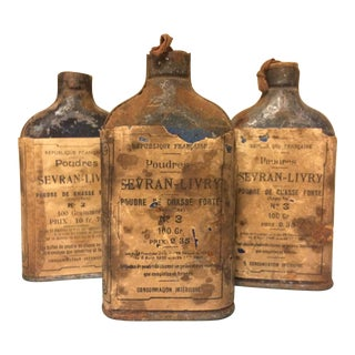 Vintage French Gun Powder Bottles - Set of 3