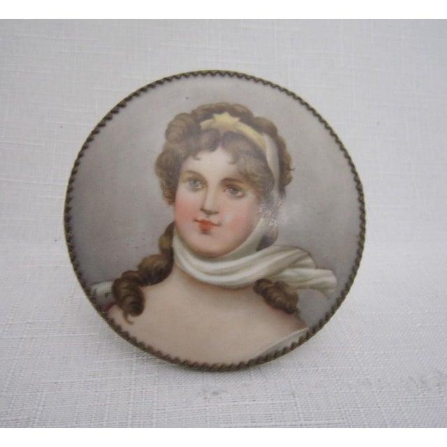 Victorian Porcelain Portrait Keepsake - Image 2 of 5
