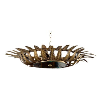 Spanish Gilt Metal Light Fixture