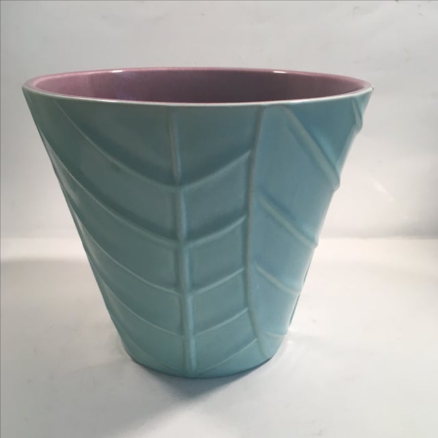 Vintage Blue Catalina Ceramics Planter - Image 2 of 9
