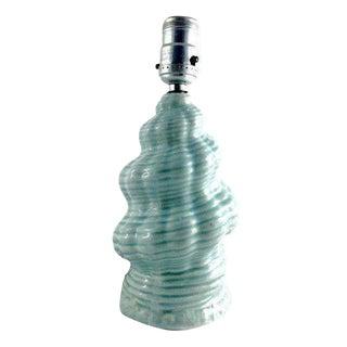 Turquoise Mid-Century Seashell Lamp