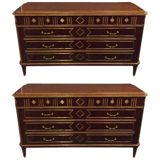 Russian Neoclassical Style Chests or Commodes - a Pair