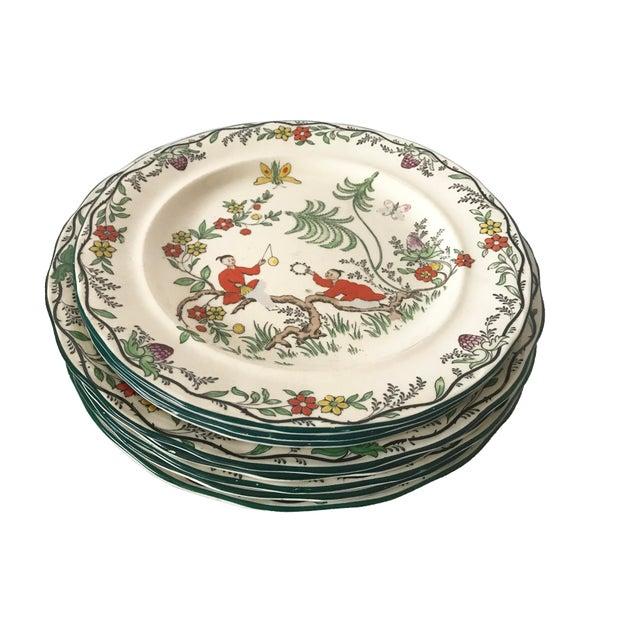 C. 1915 Adderley English Chinoiserie Plates- Set of 8 - Image 3 of 6