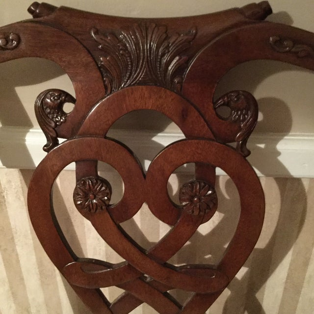 Maitland-Smith Mahogany Side or Accent Chairs- A Pair - Image 5 of 7