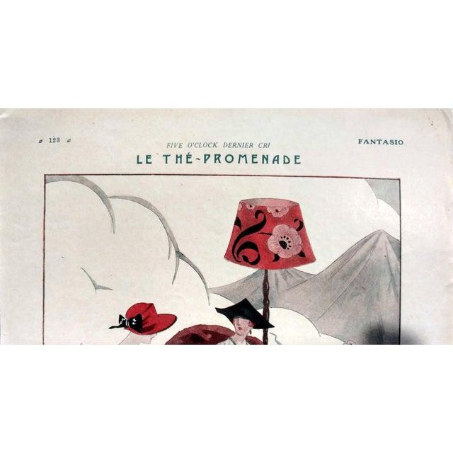"Leon Bonnotte 1923 Fantasio ""5:00 The Tea-Walk Car Show"" Print - Image 3 of 4"