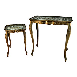 Florentine Auxiliary Tables - A Pair