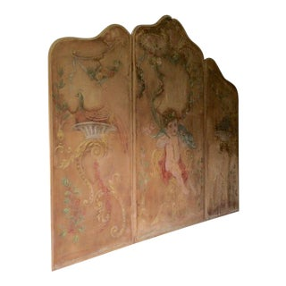 Large Antique French Three-Panel Screen